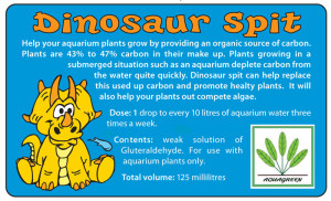 Dinosaur Spit Label